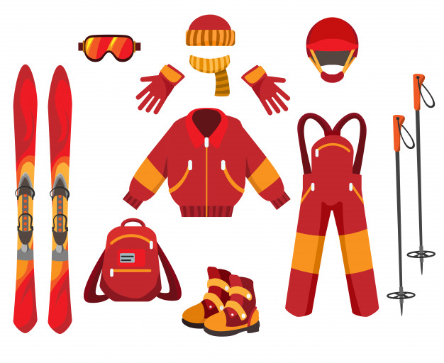 Types of skiing rental equipment