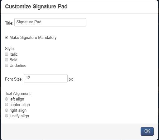 Make signature mandatory
