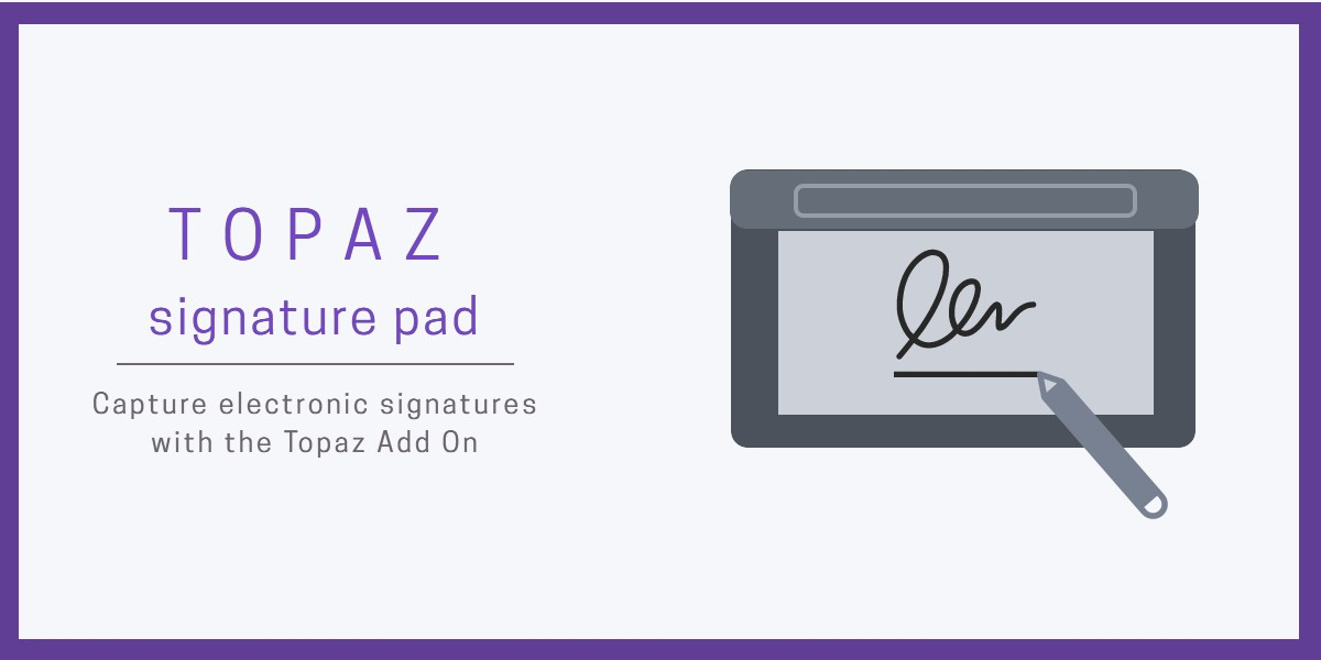 Topaz signature pad for EZRentOut