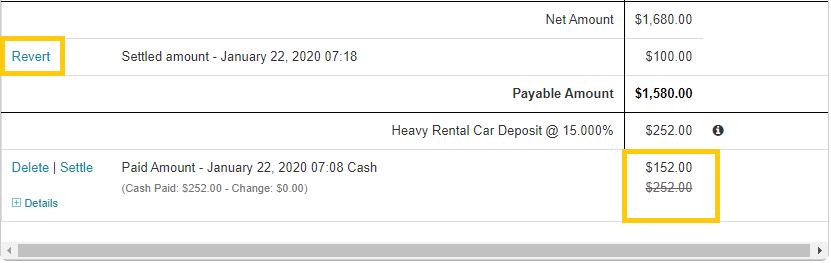 6. Revert payment