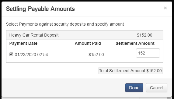 8. Add settlement for security deposits