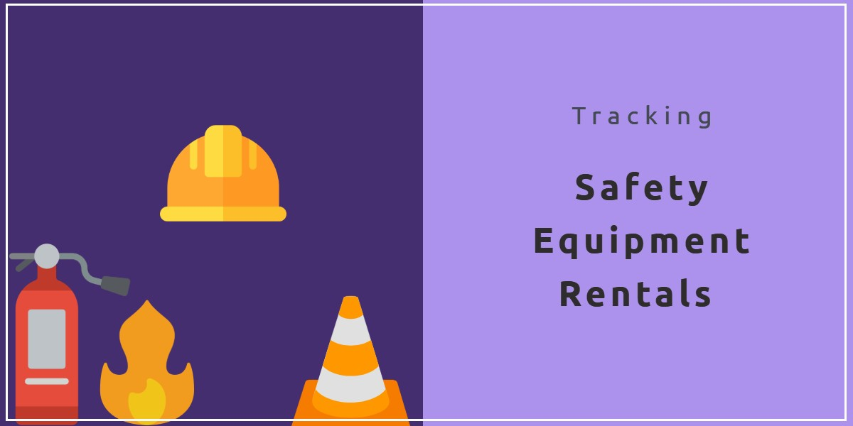 Tracking safety equipment rentals with online rental software