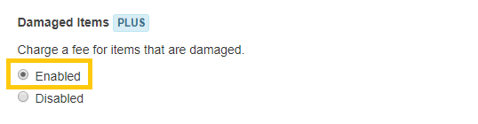 1. Enable line item damages feature