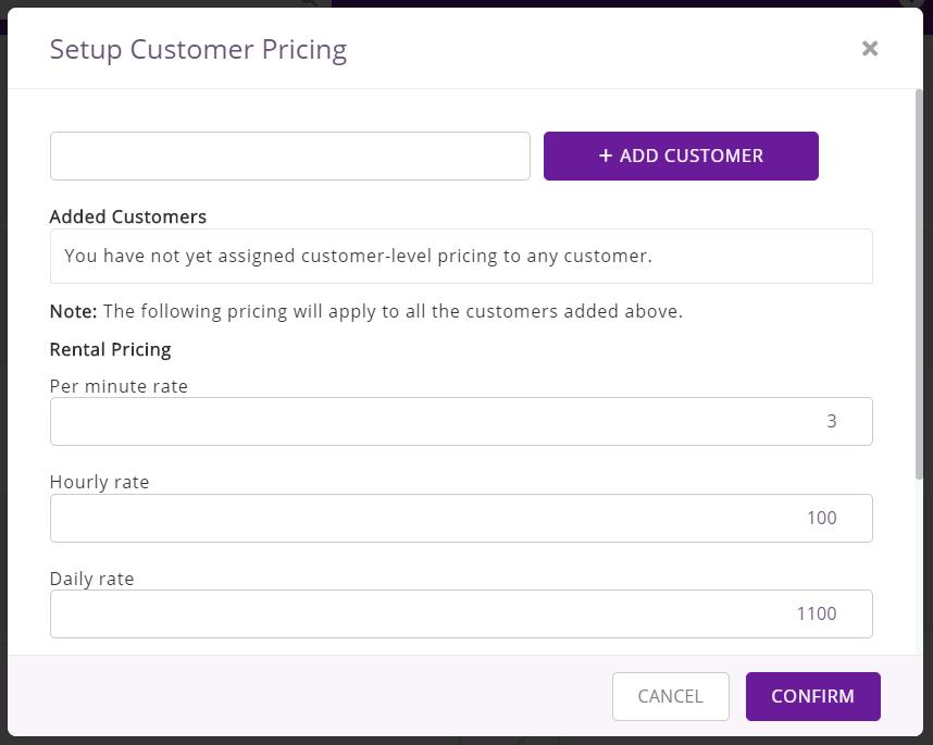 Setup Customer Pricing