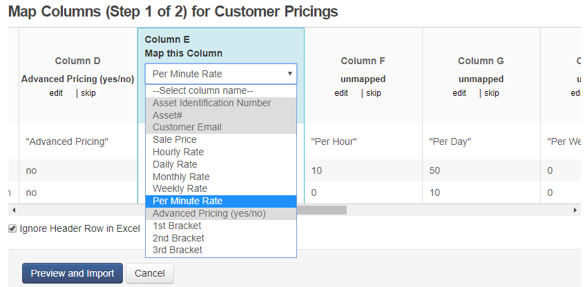 Importing pricing