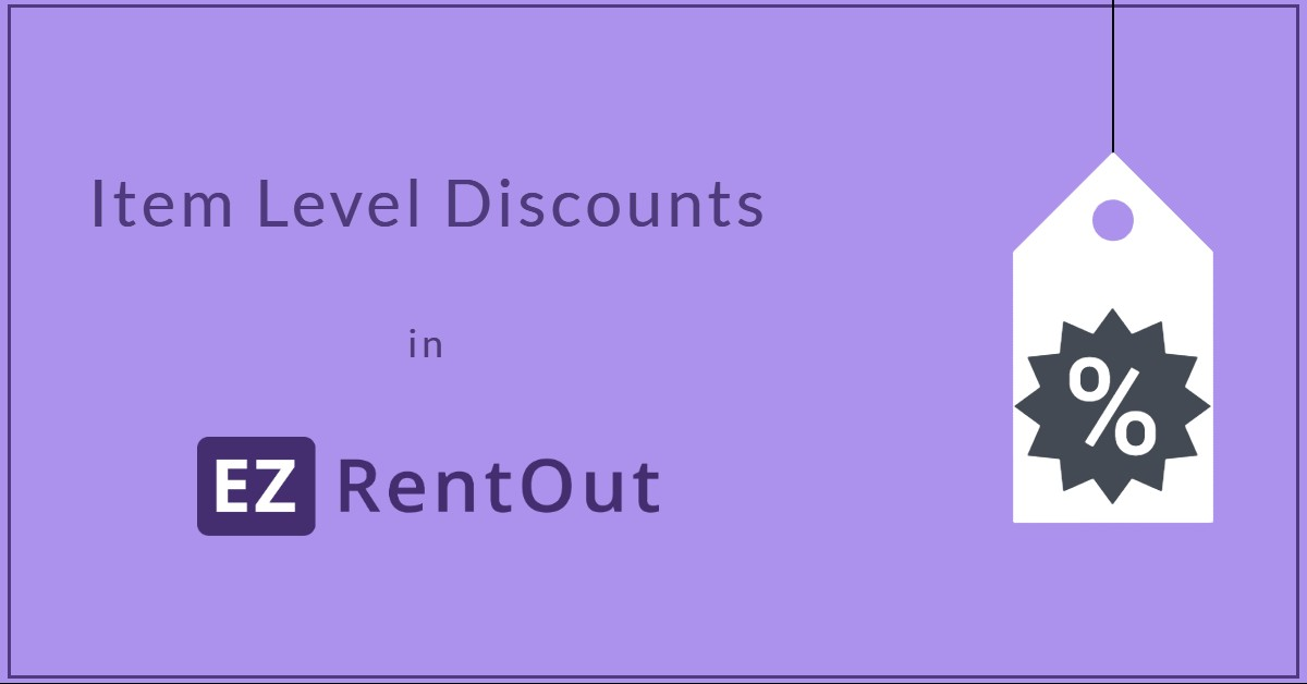 Item Level Discounts in EZRentOut
