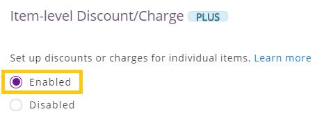 item-level discounts
