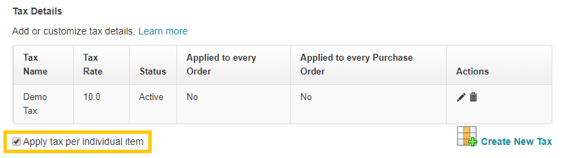 1. enable the line item taxes feature