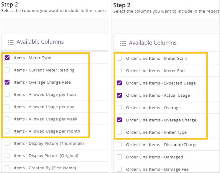13. Custom report columns