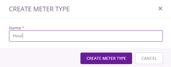2. create usage meter type